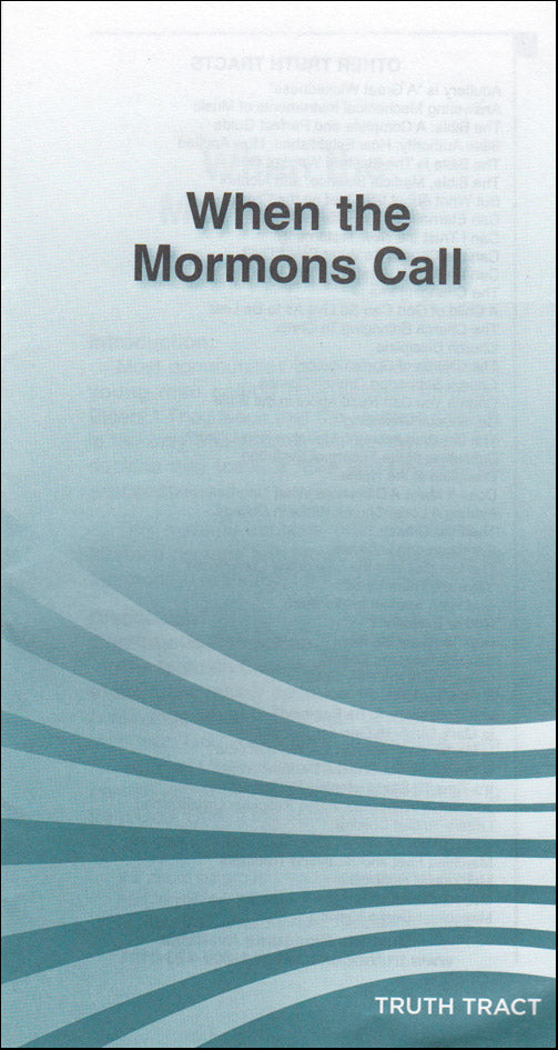 When the Mormons Call