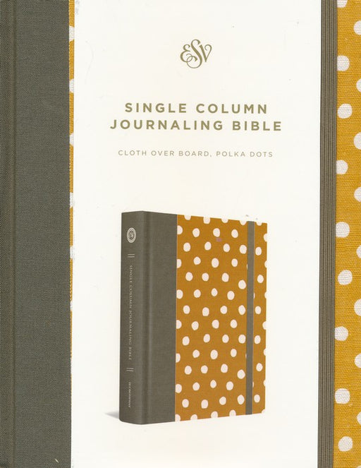 Bible ESV Single Column Journaling Bible Hardback, Polka Dot