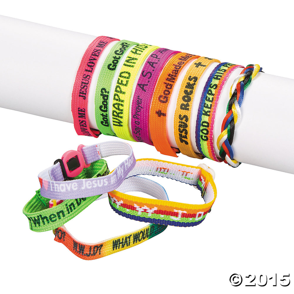 Religious Nylon Friendship Bracelets