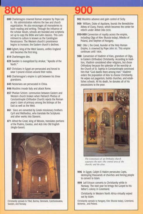 Christian History Time Line Pamphlet