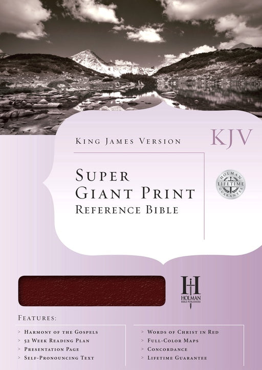 KJV Super Giant Print Reference Bible, Burgundy Indexed