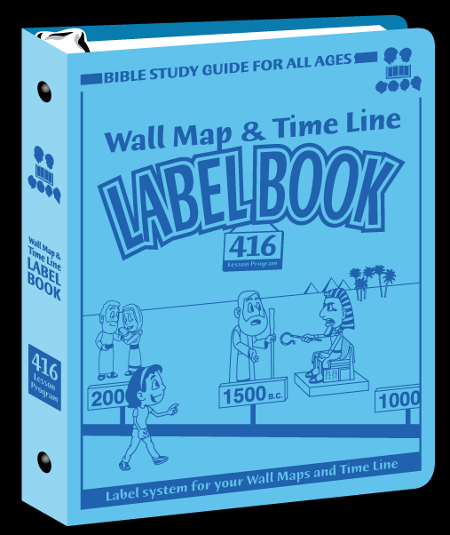 Bible Study Guide for All Ages Maps and Timeline Label Book