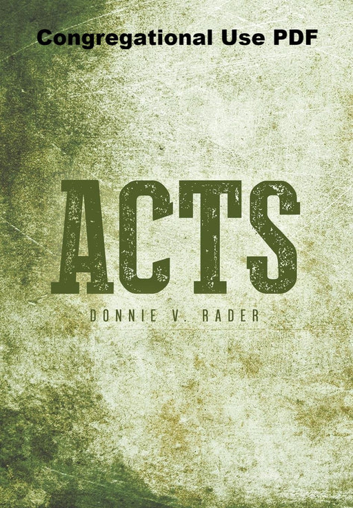 Acts - Downloadable Congregational Use PDF