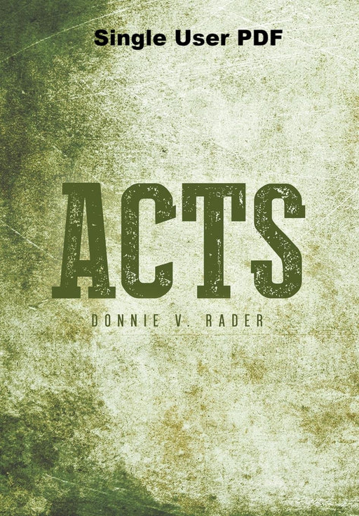 Acts - Downloadable Single Use PDF