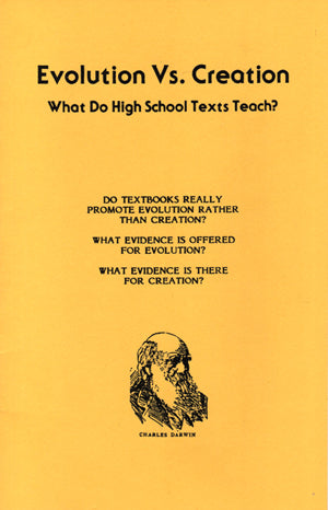 Evolution vs. Creation in High School Texts