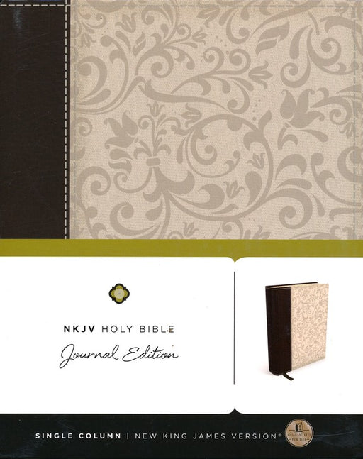 NKJV Journal Edition Bible Brown/Cream Linen Flexcover