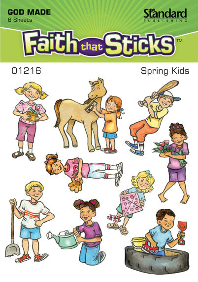 Spring Kids Stickers