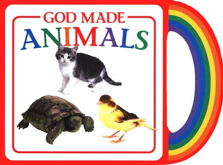 God Made Animals Board Book with Handle