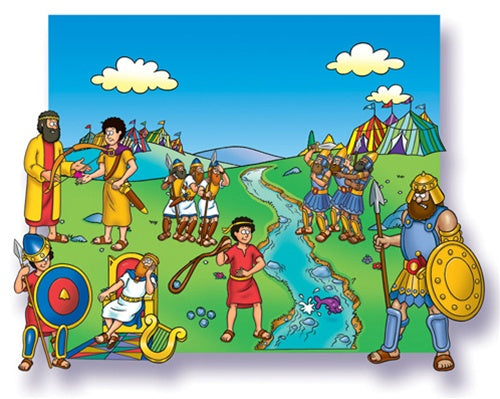 Little Folk-David & Goliath Beginner Bible Precut