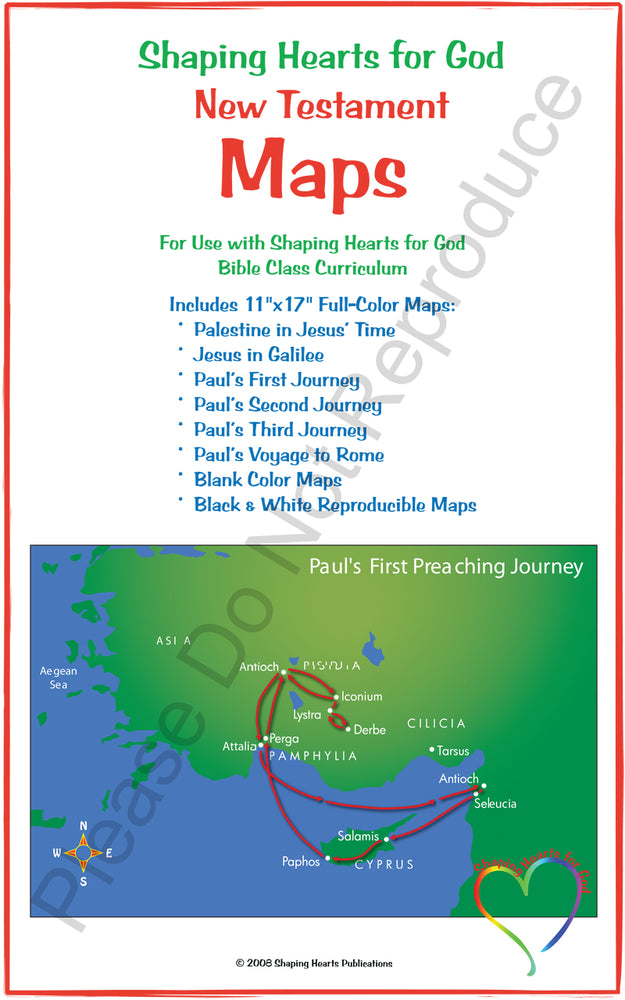 Shaping Hearts New Testament Map Set