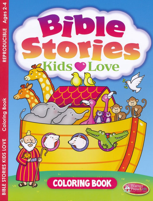 Bible Stories Kid's Love Coloring Book