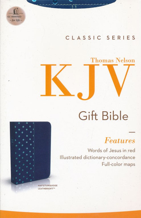 KJV Gift Bible Navy/Turquoise Leathersoft