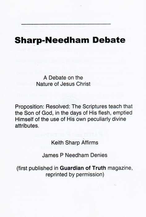 Sharp-Needham Proposition