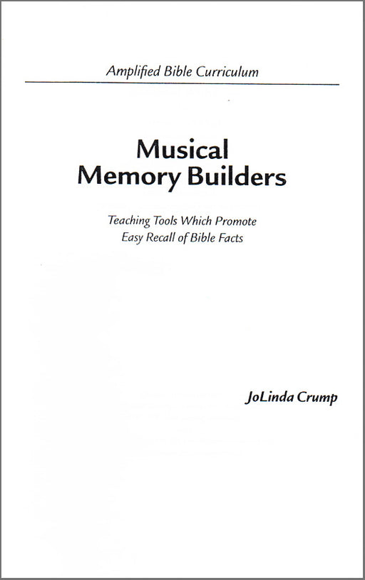Musical Memory Builder Book