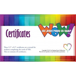 Wow! Did Jesus Really Do That? - Certificates