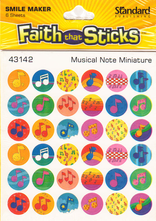 Musical Note Miniature Stickers