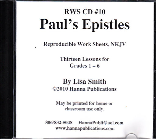 Paul's Epistles Bible Lessons CD