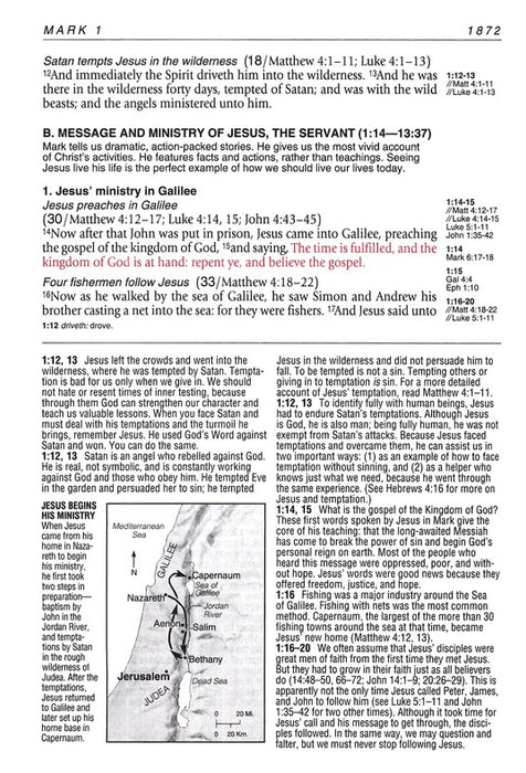 KJV Large Print Life Application Bible Black Bonded Indexed