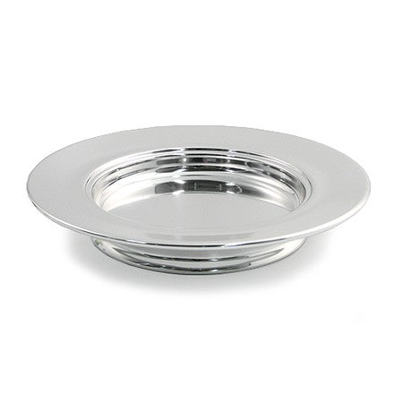 Stackable Bread Plate - Silvertone Aluminum
