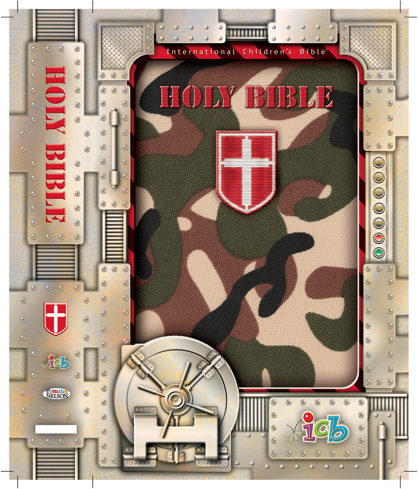 ICB International Children's Camo Bible (Green)