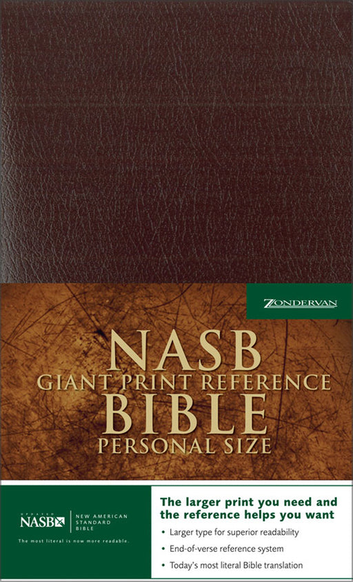 NAS Giant Print Bible Personal Size - Burgundy Bonded, Indexed