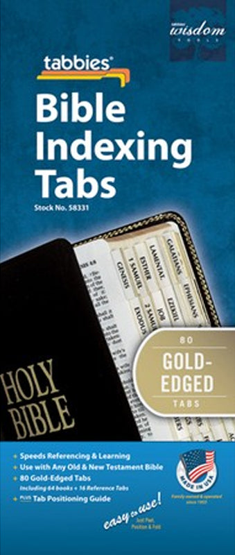 Tabbies - Gold OT & NT Bible Indexing Tabs