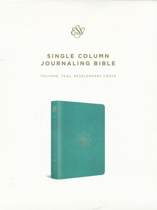 ESV Single Column Journaling Bible Teal TruTone