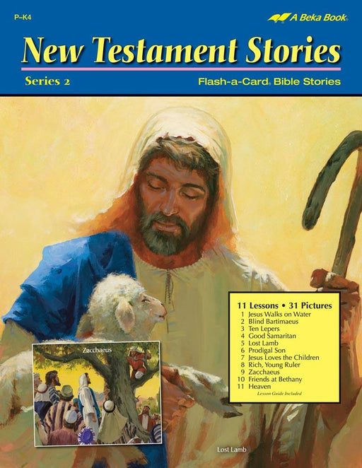 New Testament Story Series 2 Abeka Flash-A-Card Bible Stories - Book Format