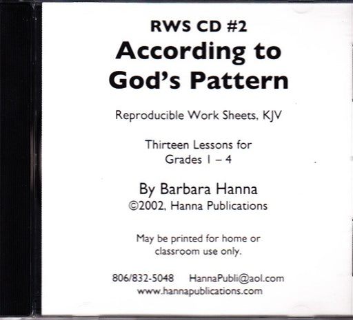 According To God's Pattern CD