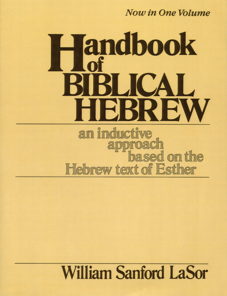Handbook of Biblical Hebrew