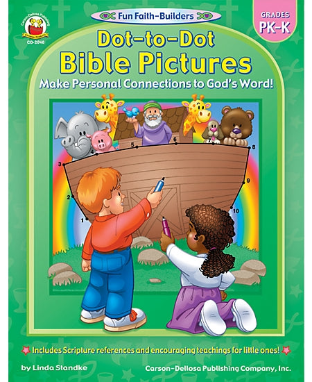 Dot-to-Dot Bible Pictures PreK-K