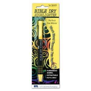 Bible Dry Refillable Highlighter - Yellow