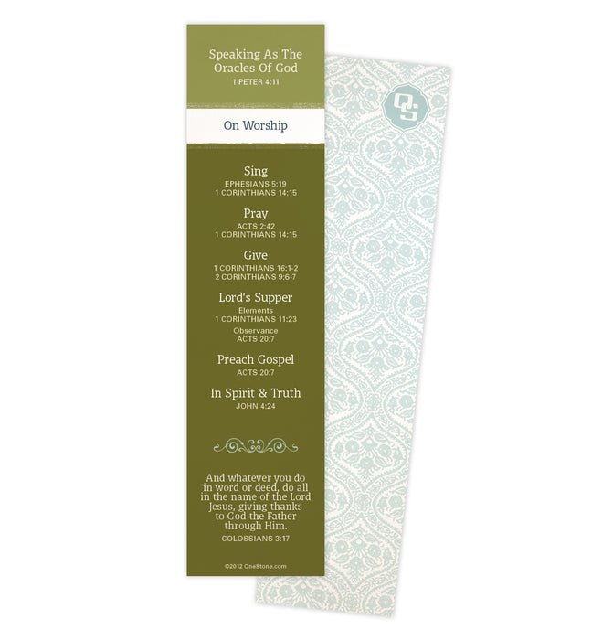 Worship Oracles Bookmark
