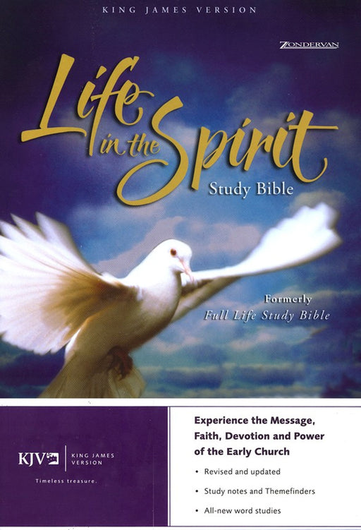 KJV Life in the Spirit Study Bible- Black Bonded Leather