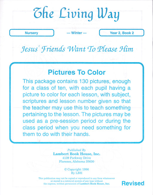 NURSERY 2-2 PTC - Jesus' Friends - Please