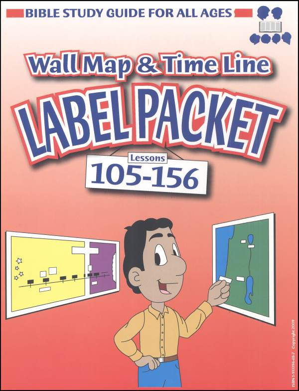 Bible Study Guide for All Ages Label Packet for Maps and Timelines Lessons 105-156