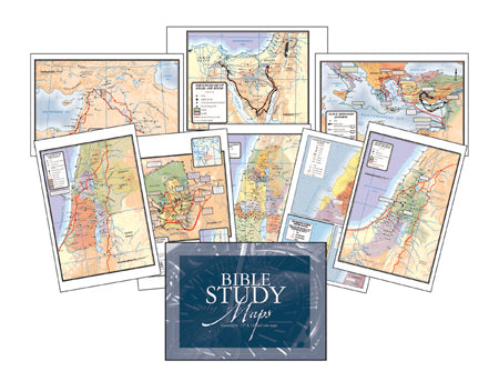 Bible Study Maps Set of 8