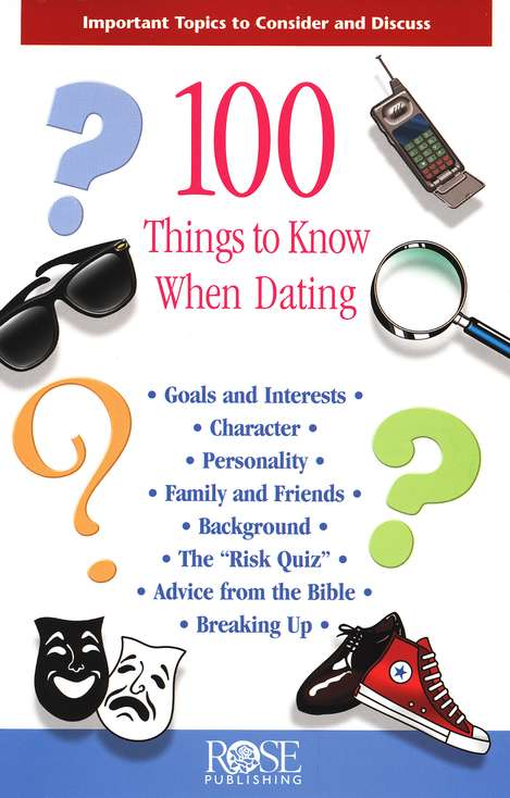 100 Things to Know When Dating Pamphlet
