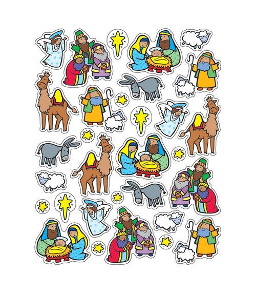 The Nativity Shape Stickers