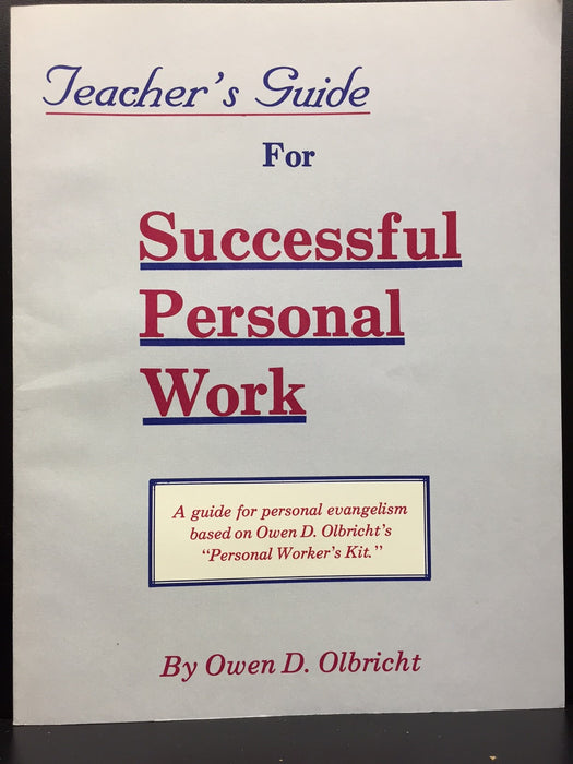 Teacher's Guide for Successful Personal Work