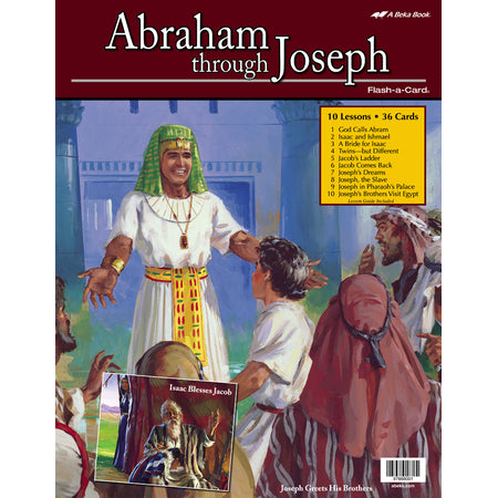 Abraham Through Joseph Abeka Flash-A-Card