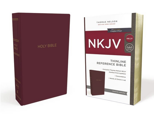 NKJV Thinline Reference Bible Burgundy Leatherflex