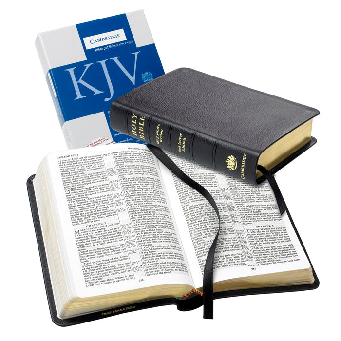 KJV Personal Size Concord Reference Bible, Black Genuine French Morocco Leather