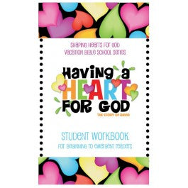 Having A Heart for God - Student Workbook, Beginning/Emergent Readers