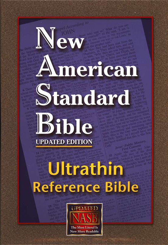 NASB Ultrathin Reference Bible, Burgundy Genuine Leather
