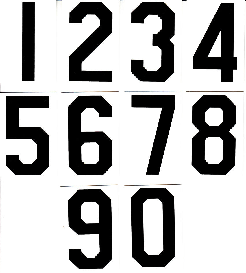"3 1/2"" Extra Numbers Set - White"