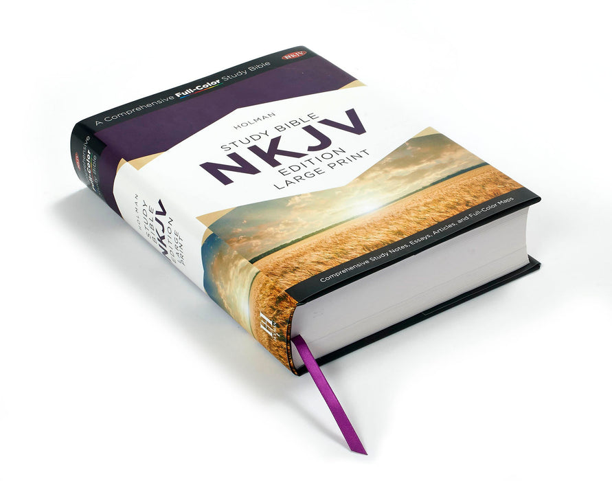 Holman NKJV Full-Color Large Print Study Bible Hardback