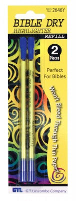 Refill for Bible Dry Highlighter - Yellow
