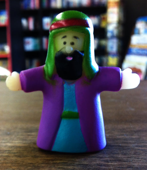 Finger Puppet - Man (purple)