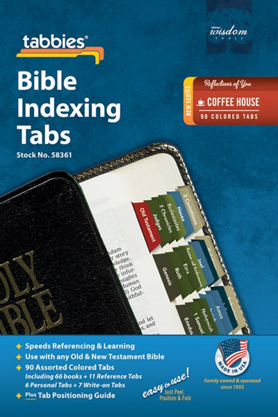 Tabbies Coffee House Bible OT & NT Bible Indexing Tabs
